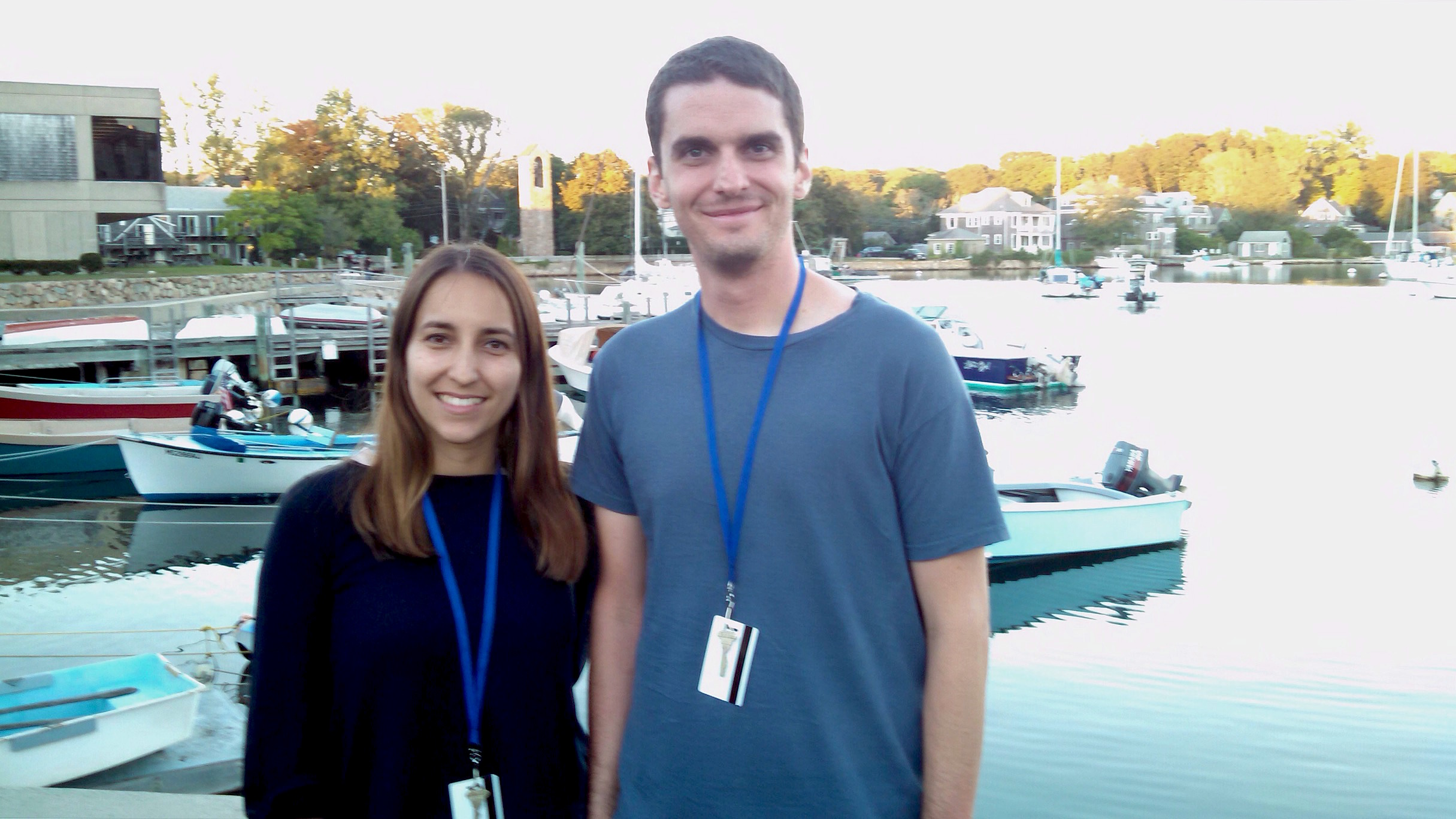 Filipa Ferreira and Tony Szempruch at Woods Hole